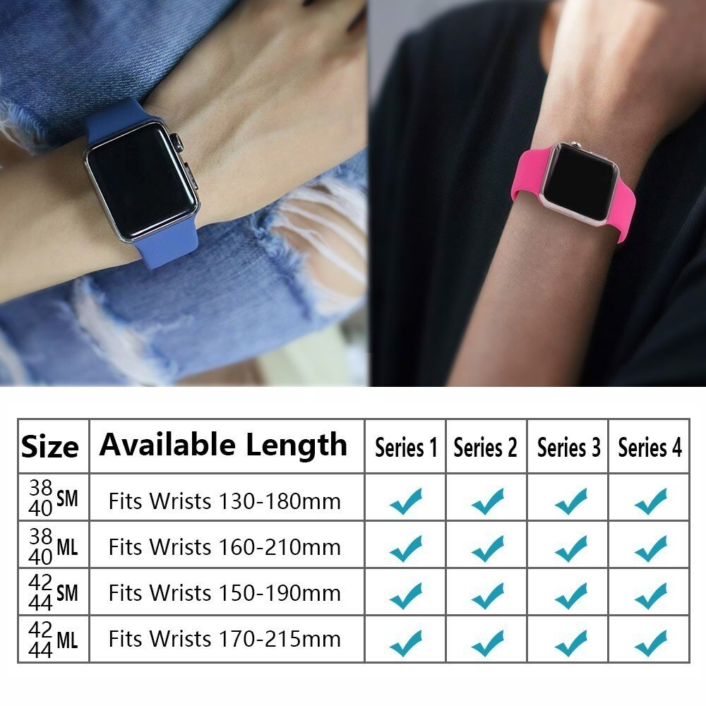 silicone Strap For Apple Watch band 42mm 38mm 44mm 40mm pulseira iwatch series 5 4 3 2 1 Bracelet smart watch Accessories loop