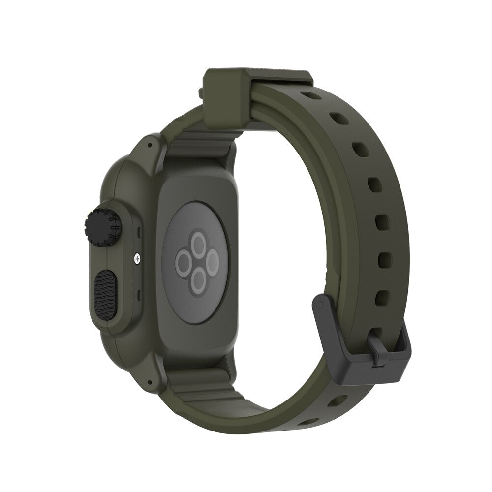 Waterproof Shock Proof Impact Resistant case for Apple Watch series 3 2 Soft Silicone band for iwatch band 42mm accessories