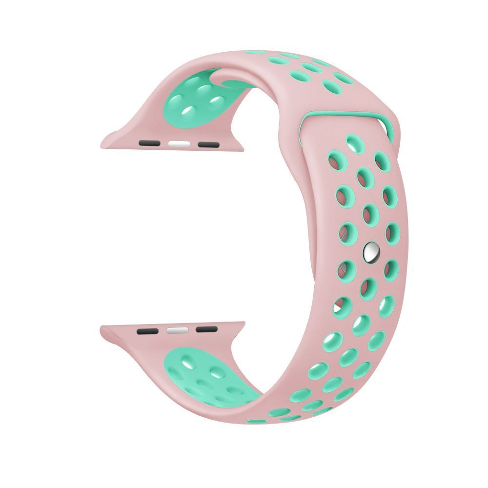 Soft Silicone Replacement Wristband for Apple Watch Series 1 2 3 4 5 Breathable hole iwatch band 44mm 40mm 42mm band 38mm strap