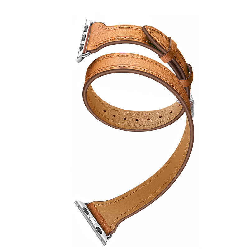Strap For Apple Watch Band 4 5 44mm 42mm 40mm 38mm Iwatch band 5 4 3 2 1 Genuine Leather Double Tour Bracelet Accessories