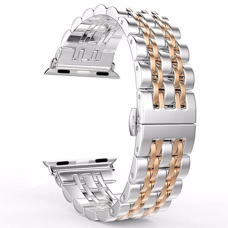Stainless Steel watch strap For Apple Watch 42mm 38mm 40mm 44mm Metal Replacement band bracelet For iWatch Series 5 4 3 2 1