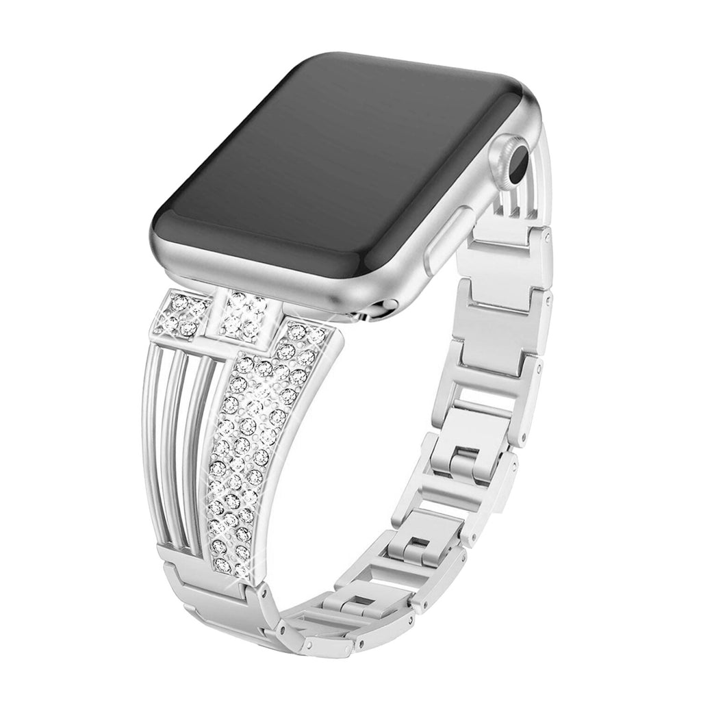 women diamond strap for apple watch series 5 4 3 2 band for iWatch 38mm 42mm 40mm 44mm stainless stee strap link bracelet