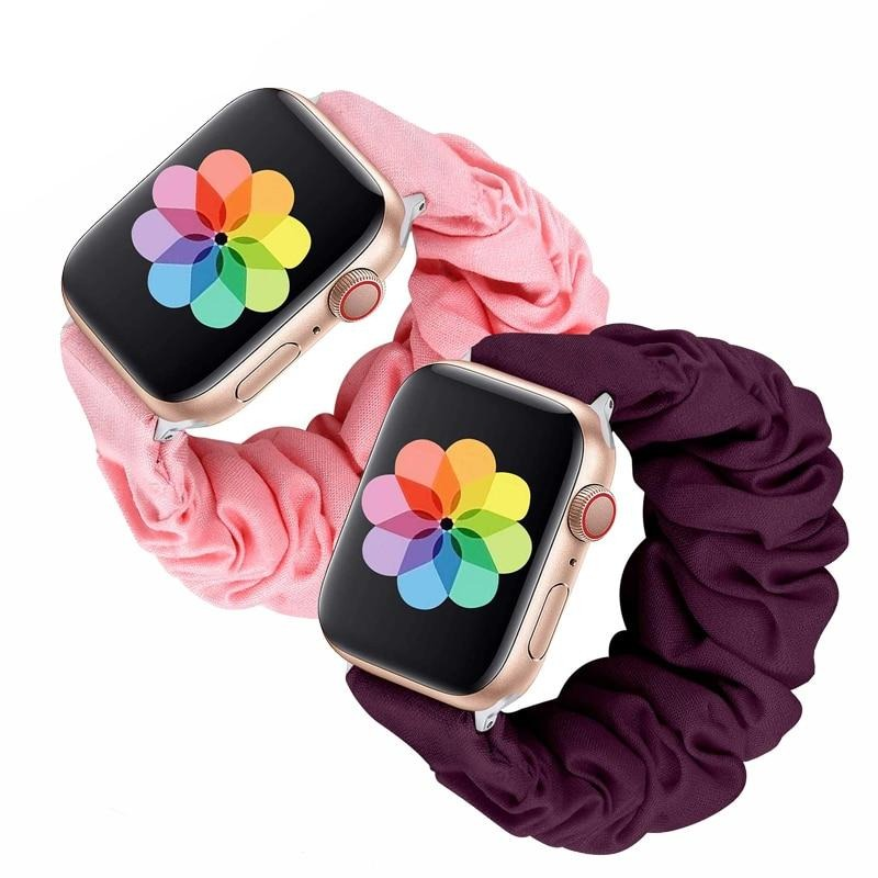 31 colors Elastic loop band for apple watch Series 5 4 3 2 1 Sport bracelet for iwatch band strap belt women Scrunchie wristband