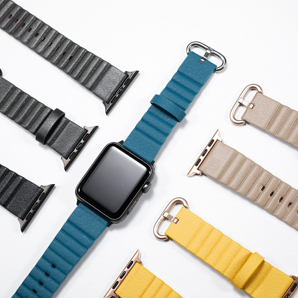 Leather loop watch band For Apple watch strap 44 mm 40mm iwatch band 38mm 42mm Genuine leather bracelet apple watch 5 4 3 2 1