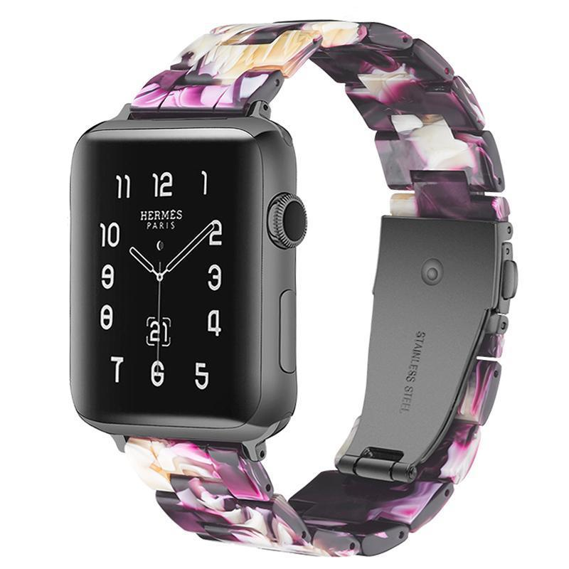 Flash Purple Resin Band For Apple Watch