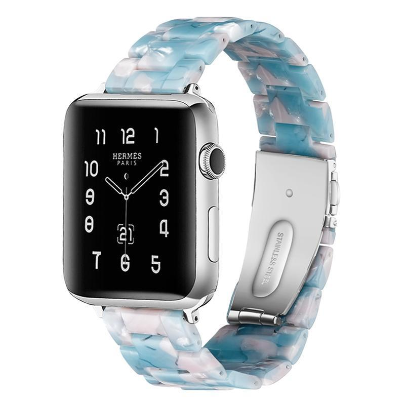 Sky Blue Resin Band For Apple Watch