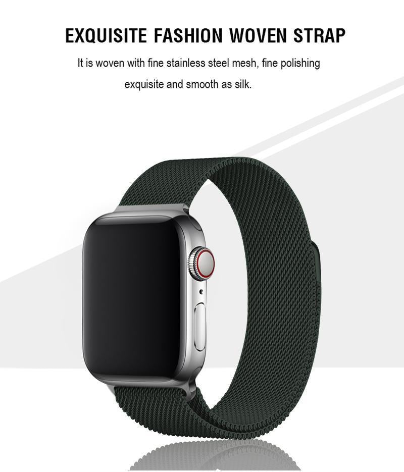 Midnight Green Milanese Apple Watch Band
