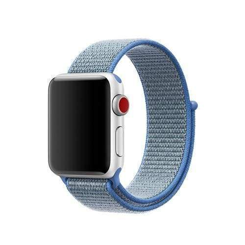 accessories 1 Tahoe Blue / 38mm/40mm Apple Watch band Nylon sport loop strap 44mm/ 40mm/ 42mm/ 38mm iWatch Series 1 2 3 4 bracelet hook-and-loop wrist watchband accessories - US fast shipping