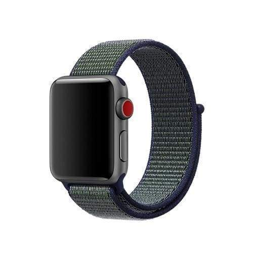 accessories 4 Midnight Fog / 38mm/40mm Apple Watch band Nylon sport loop strap 44mm/ 40mm/ 42mm/ 38mm iWatch Series 1 2 3 4 bracelet hook-and-loop wrist watchband accessories - US fast shipping