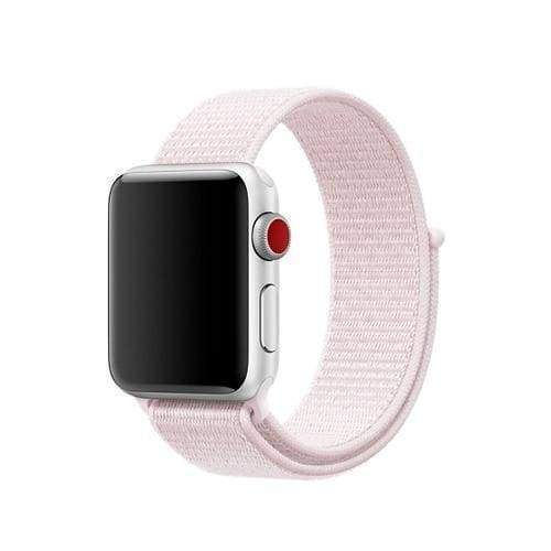 accessories 5  Pearl Pink / 38mm/40mm Apple Watch band Nylon sport loop strap 44mm/ 40mm/ 42mm/ 38mm iWatch Series 1 2 3 4 bracelet hook-and-loop wrist watchband accessories - US fast shipping