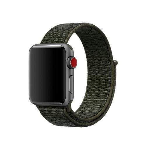 accessories 6 Cargo Khaki / 38mm/40mm Apple Watch band Nylon sport loop strap 44mm/ 40mm/ 42mm/ 38mm iWatch Series 1 2 3 4 bracelet hook-and-loop wrist watchband accessories - US fast shipping