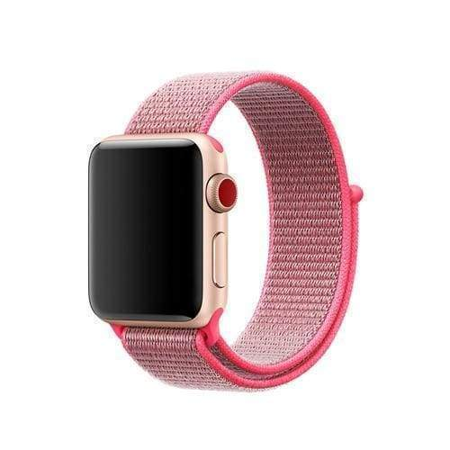 accessories 7 Hot Pink / 38mm/40mm Apple Watch band Nylon sport loop strap 44mm/ 40mm/ 42mm/ 38mm iWatch Series 1 2 3 4 bracelet hook-and-loop wrist watchband accessories - US fast shipping