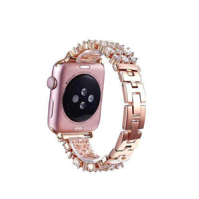 Accessories Apple Watch crystal band, Luxury Bling Diamond Bracelet,  Rhinestone Stainless Steel Strap 44mm/ 40mm/ 42mm/ 38mm, iWatch Series 1 2 3 4