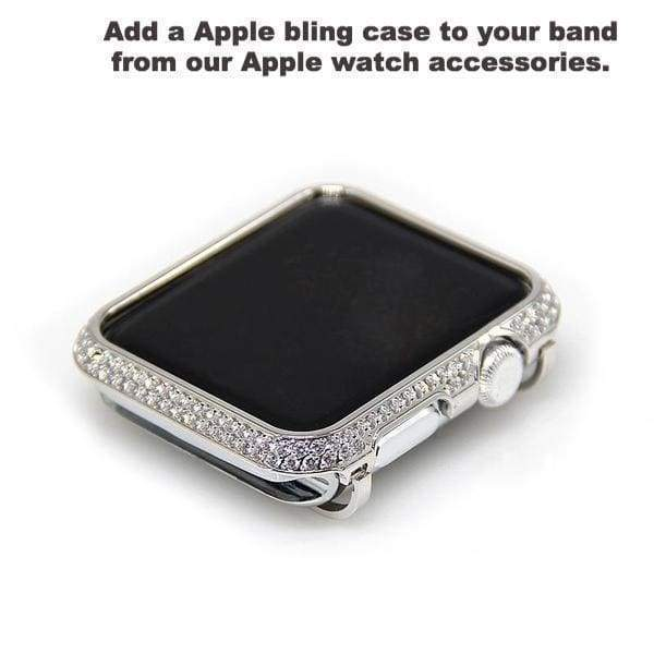 Accessories Apple watch cuff band,  Bling Luxury Crystal Diamond iWatch cuff bangle,  Stainless Steel, 44mm, 40mm, 42mm, 38mm, Series 1 2 3 4