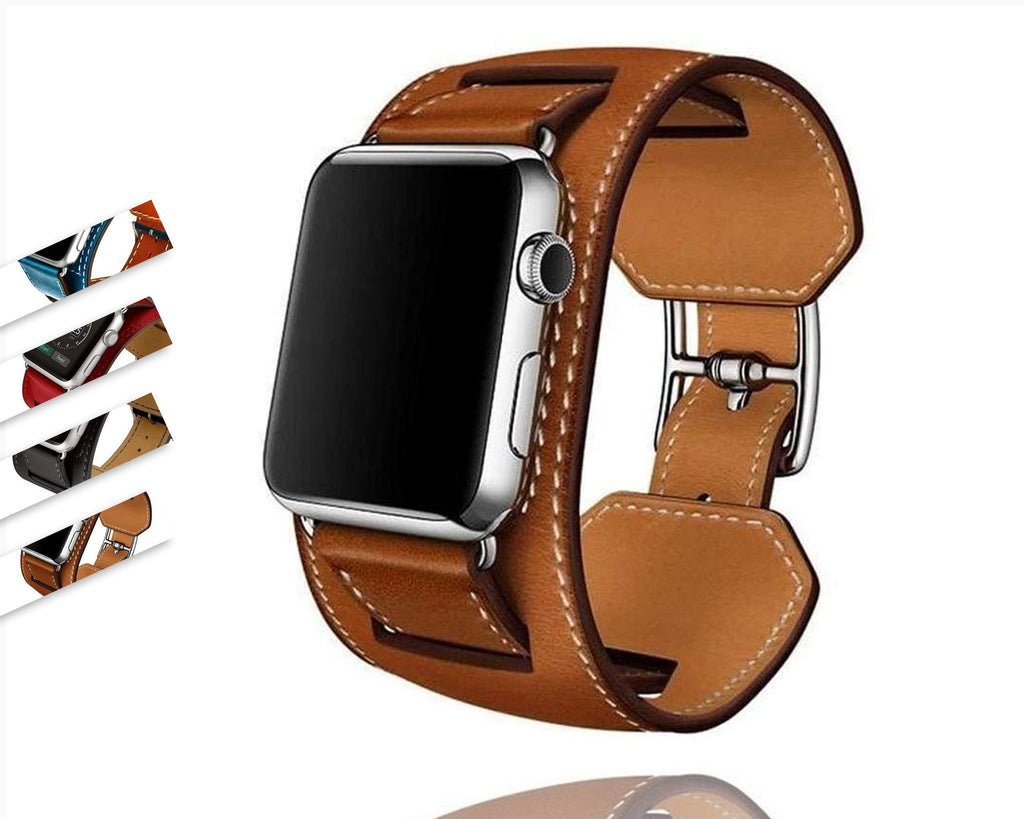 accessories Apple Watch Series 5 4 3 2 Band, Leather Double Tour wrap Bracelet Strap Watchband fits 38mm, 40mm, 42mm, 44mm - US Fast Shipping