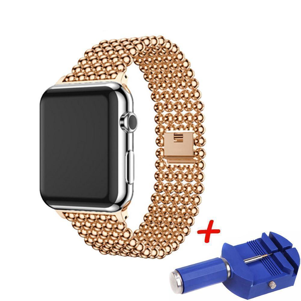 Accessories Apple Watch Series 5 4 3 2 Band, Minimal Stainless Steel Metal, 38mm, 40mm, 42mm, 44mm - US Fast Shipping