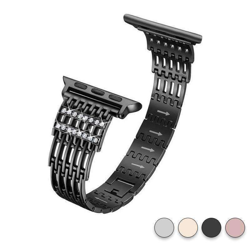 accessories Black / 38mm / 40mm Apple Watch Series 5 4 3 2 Band, Bling Stainless Steel Metal Watch band for Apple Watch band 38mm, 40mm, 42mm, 44mm