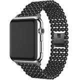Accessories Black / 38mm / 40mm Apple Watch Series 5 4 3 2 Band, Minimal Stainless Steel Metal, 38mm, 40mm, 42mm, 44mm - US Fast Shipping