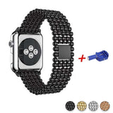 Accessories Black / 42mm / 44mm Apple Watch Series 5 4 3 2 Band, Minimal Stainless Steel Metal, 38mm, 40mm, 42mm, 44mm - US Fast Shipping