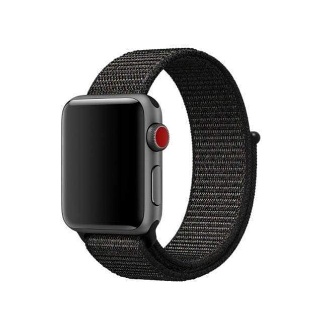 accessories black red / 38mm/40mm Apple Watch band Nylon sport loop strap 44mm/ 40mm/ 42mm/ 38mm iWatch Series 1 2 3 4 bracelet hook-and-loop wrist watchband accessories - US fast shipping