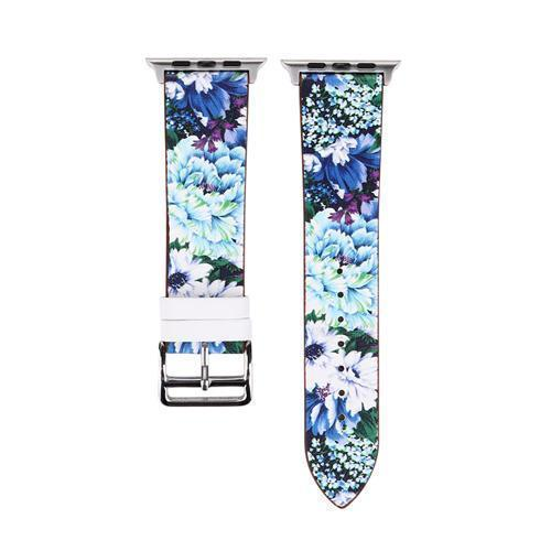 Accessories Blue / 38mm/40mm Apple Watch band strap, flower floral design print, 44mm/ 40mm/ 42mm/ 38mm , Series 1 2 3 4