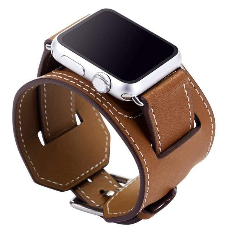 accessories Brown / 42mm / 44mm Apple Watch Series 5 4 3 2 Band, Leather Double Tour wrap Bracelet Strap Watchband fits 38mm, 40mm, 42mm, 44mm - US Fast Shipping