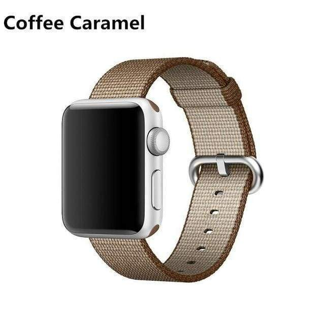 accessories Coffee / 38mm / 40mm Apple Watch Series 5 4 3 2 Band, Best Apple watch band Nylon Woven Loop 38mm, 40mm, 42mm, 44mm