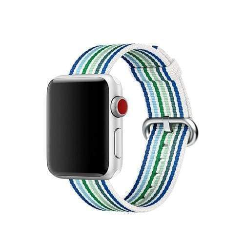 accessories Cyan / 38mm / 40mm Apple Watch Series 5 4 3 2 Band, Best Apple watch band Nylon Woven Loop 38mm, 40mm, 42mm, 44mm