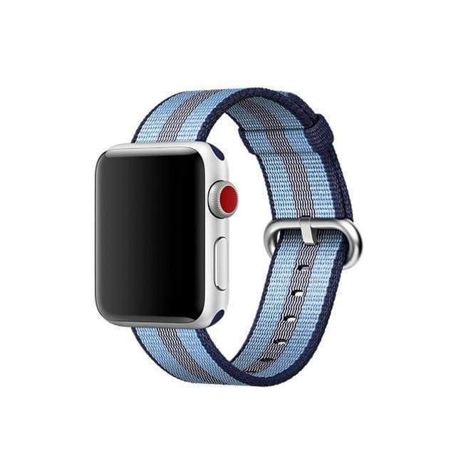 accessories Dark blue / 38mm / 40mm Apple Watch Series 5 4 3 2 Band, Best Apple watch band Nylon Woven Loop 38mm, 40mm, 42mm, 44mm