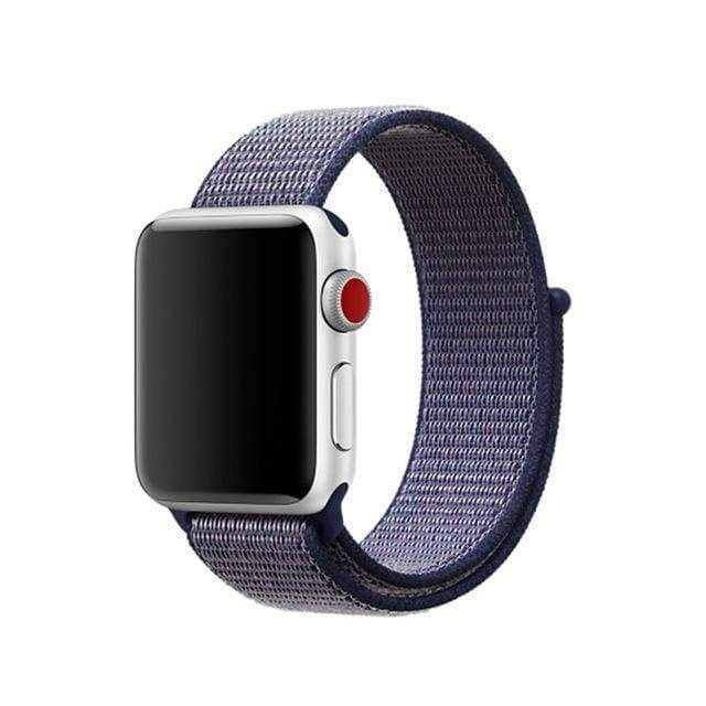 accessories deeple blue / 38mm/40mm Apple Watch band Nylon sport loop strap 44mm/ 40mm/ 42mm/ 38mm iWatch Series 1 2 3 4 bracelet hook-and-loop wrist watchband accessories - US fast shipping