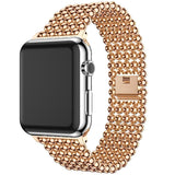 Accessories Gold / 38mm / 40mm Apple Watch Series 5 4 3 2 Band, Minimal Stainless Steel Metal, 38mm, 40mm, 42mm, 44mm - US Fast Shipping