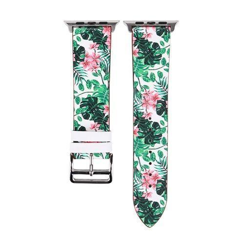 Accessories Green / 38mm/40mm Apple Watch band strap, flower floral design print, 44mm/ 40mm/ 42mm/ 38mm , Series 1 2 3 4
