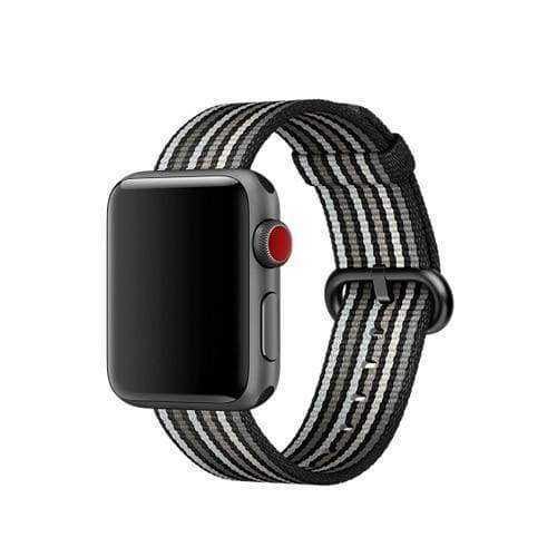 accessories Gun metal Black / 38mm / 40mm Apple Watch Series 5 4 3 2 Band, Best Apple watch band Nylon Woven Loop 38mm, 40mm, 42mm, 44mm