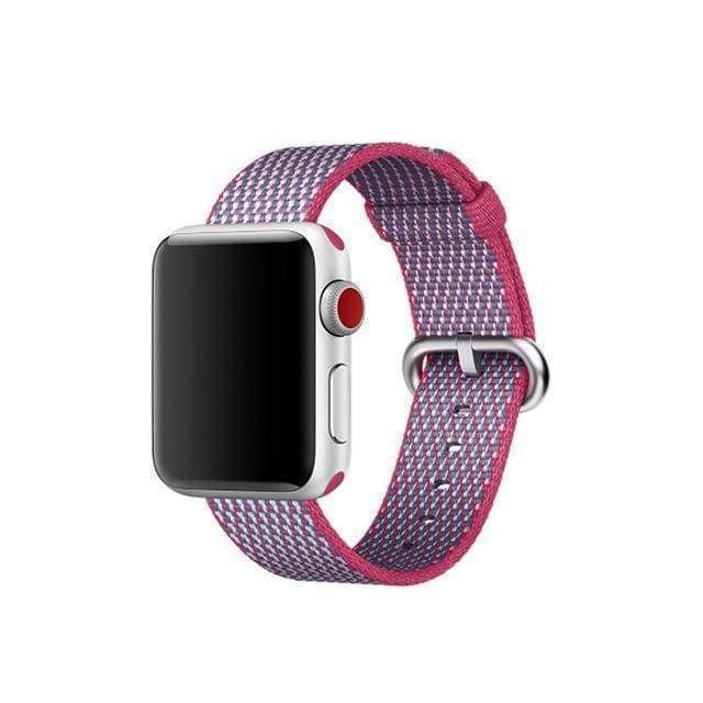 accessories Hot Pink / 38mm / 40mm Apple Watch Series 5 4 3 2 Band, Best Apple watch band Nylon Woven Loop 38mm, 40mm, 42mm, 44mm