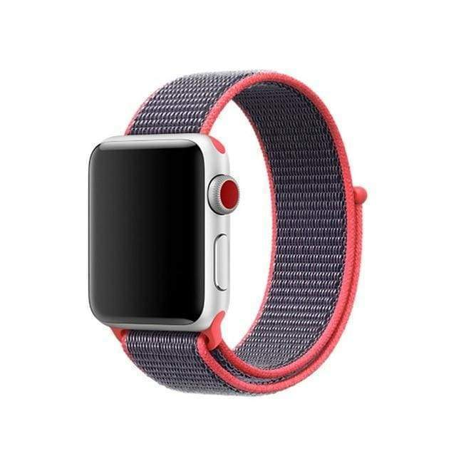 accessories light pink / 38mm/40mm Apple Watch band Nylon sport loop strap 44mm/ 40mm/ 42mm/ 38mm iWatch Series 1 2 3 4 bracelet hook-and-loop wrist watchband accessories - US fast shipping