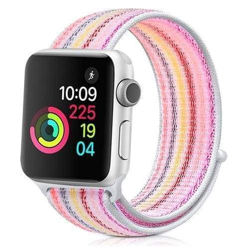 accessories new strip pink / 38mm/40mm Apple Watch band Nylon sport loop strap 44mm/ 40mm/ 42mm/ 38mm iWatch Series 1 2 3 4 bracelet hook-and-loop wrist watchband accessories - US fast shipping