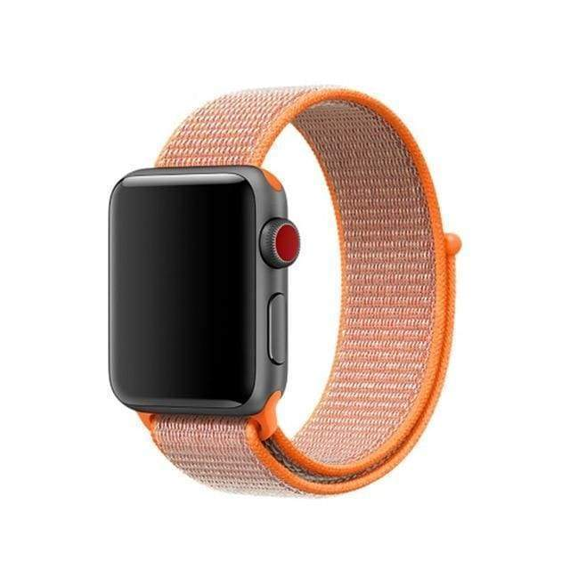 accessories orange red / 38mm/40mm Apple Watch band Nylon sport loop strap 44mm/ 40mm/ 42mm/ 38mm iWatch Series 1 2 3 4 bracelet hook-and-loop wrist watchband accessories - US fast shipping