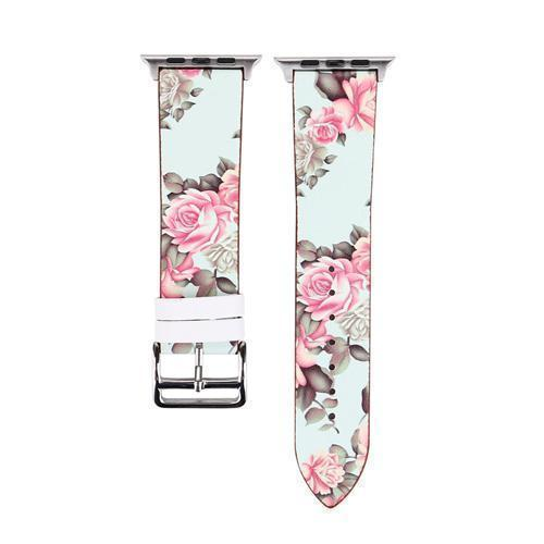 Accessories Pink / 38mm/40mm Apple Watch band strap, flower floral design print, 44mm/ 40mm/ 42mm/ 38mm , Series 1 2 3 4