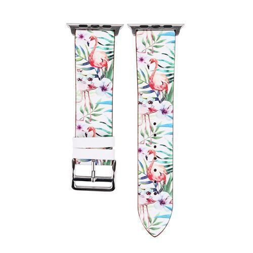 Accessories Pink and Green / 38mm/40mm Apple Watch band strap, flower floral design print, 44mm/ 40mm/ 42mm/ 38mm , Series 1 2 3 4