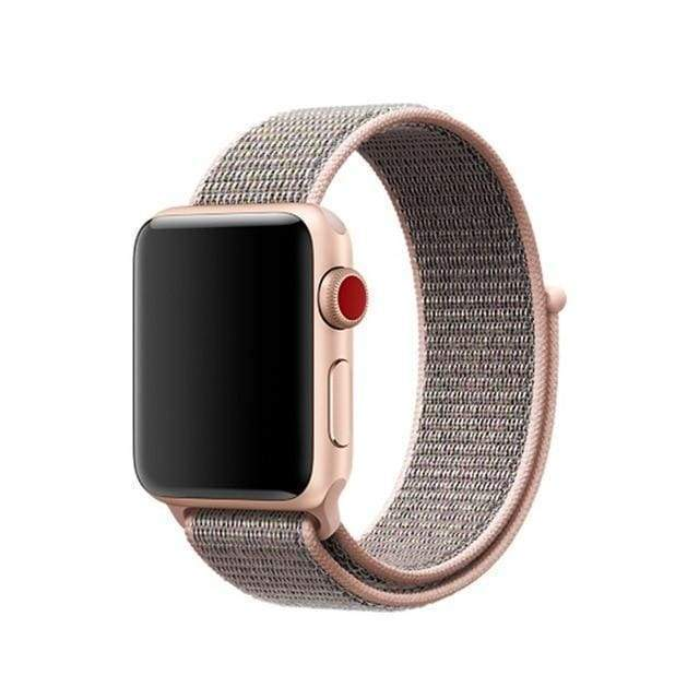 accessories pink sand / 38mm/40mm Apple Watch band Nylon sport loop strap 44mm/ 40mm/ 42mm/ 38mm iWatch Series 1 2 3 4 bracelet hook-and-loop wrist watchband accessories - US fast shipping