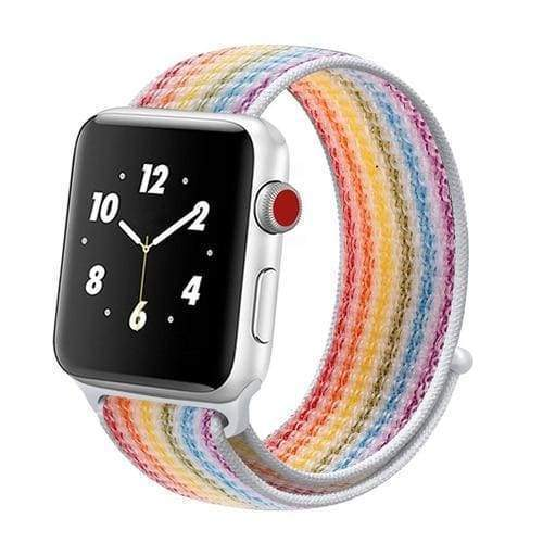 accessories rainbow / 38mm/40mm Apple Watch band Nylon sport loop strap 44mm/ 40mm/ 42mm/ 38mm iWatch Series 1 2 3 4 bracelet hook-and-loop wrist watchband accessories - US fast shipping