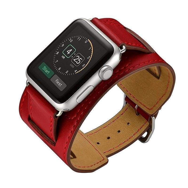 accessories Red / 38mm / 40mm Apple Watch Series 5 4 3 2 Band, Leather Double Tour wrap Bracelet Strap Watchband fits 38mm, 40mm, 42mm, 44mm - US Fast Shipping