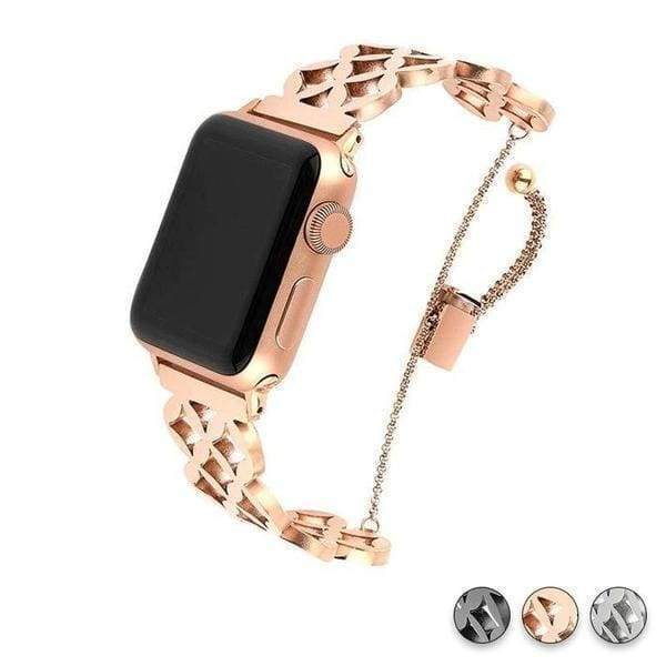 accessories Rose Gold 1 / 38mm/40mm Apple Watch Series 5 4 3 2 Band, Cuff Rose Gold Band, Stainless Steel, Women Strap, Bangle Bracelet, fits 38mm, 40mm, 42mm, 44mm