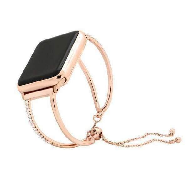 Accessories Rose Gold 2 / 38mm/40mm Apple watch cuff band,  Bling Luxury Crystal Diamond iWatch cuff bangle,  Stainless Steel, 44mm, 40mm, 42mm, 38mm, Series 1 2 3 4