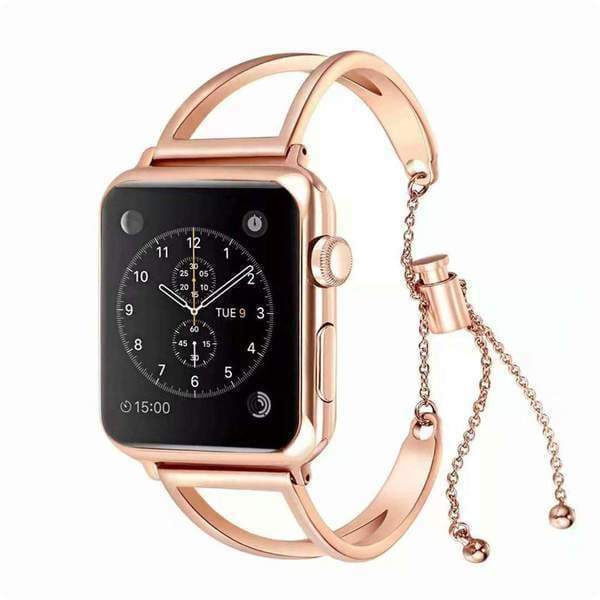 accessories Rose Gold 3 / 38mm/40mm Apple Watch Series 5 4 3 2 Band, Cuff Rose Gold Band, Stainless Steel, Women Strap, Bangle Bracelet, fits 38mm, 40mm, 42mm, 44mm