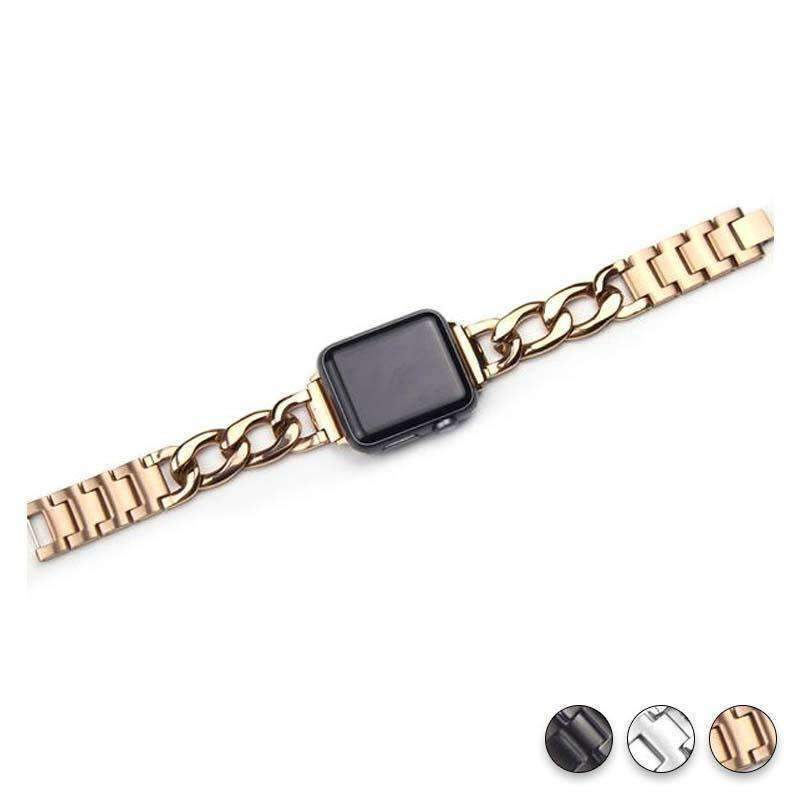 accessories Rose Gold / 38mm/40mm Apple Watch Series 5 4 3 2 Band, Chain link Bracelet Strap Metal Wrist Belt Replacement Clock Watch, 38mm, 40mm, 42mm, 44mm-USA Fast Shipping