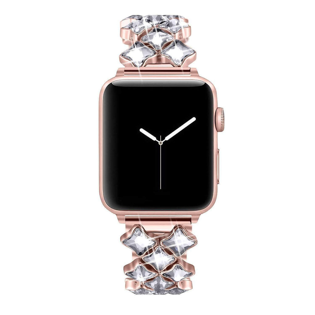 accessories Rose gold / 38mm / 40mm Apple Watch Series 5 4 3 2 Band, Rose gold Bling Diamond Stainless Steel Strap 38mm, 40mm, 42mm, 44mm
