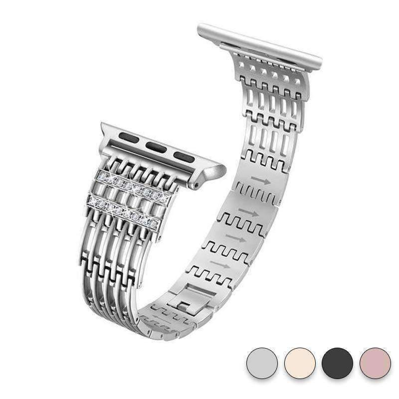 accessories Silver / 38mm / 40mm Apple Watch Series 5 4 3 2 Band, Bling Stainless Steel Metal Watch band for Apple Watch band 38mm, 40mm, 42mm, 44mm