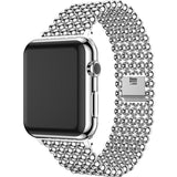Accessories Silver / 38mm / 40mm Apple Watch Series 5 4 3 2 Band, Minimal Stainless Steel Metal, 38mm, 40mm, 42mm, 44mm - US Fast Shipping