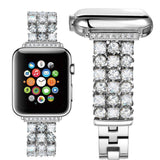 Accessories Silver / 42mm/44mm Apple Watch crystal band, Luxury Bling Diamond Bracelet,  Rhinestone Stainless Steel Strap 44mm/ 40mm/ 42mm/ 38mm, iWatch Series 1 2 3 4